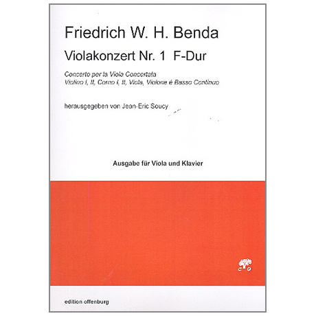 Benda, F. W. H.: Violakonzert Nr. 1 F-Dur