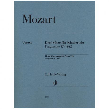 Mozart, W. A.: 3 Sätze für Klaviertrio (Fragmente KV442)