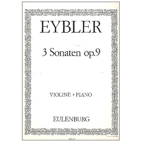 Eybler, J.L.: 3 Sonaten Op.9
