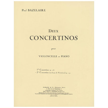Bazelaire, P.: Concertini Nr. 2 Op. 127