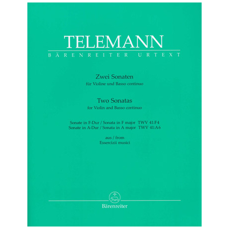 Telemann, G. Ph.: 2 Sonaten TWV 41: F4/TWV 41: A6