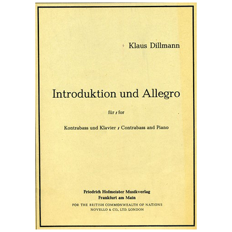 Dillmann, K.: Introduktion und Allegro