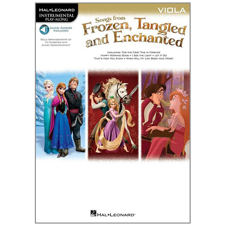 Songs from Frozen, Tangled and Enchanted for Viola (+Online Audio)