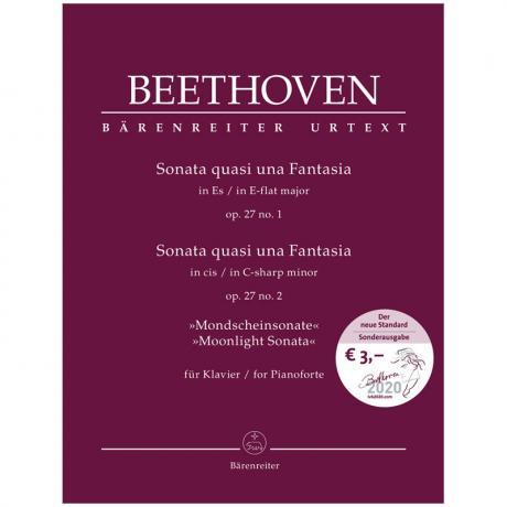 Beethoven, L. v.: Klaviersonaten Op. 27/1 und Op. 27/2 »Mondscheinsonate«