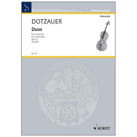 Dotzauer, J. J. F.: Duos Op. 15