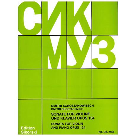 Schostakowitsch, D.: Violinsonate Op. 134 G-Dur