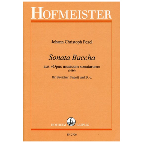 Pezel, J. Ch.: Sonata Baccha aus »Opus musicum sonatarum«