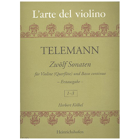 Telemann, G. Ph.: 12 Violinsonaten Band 1 (Nr. 1-3)
