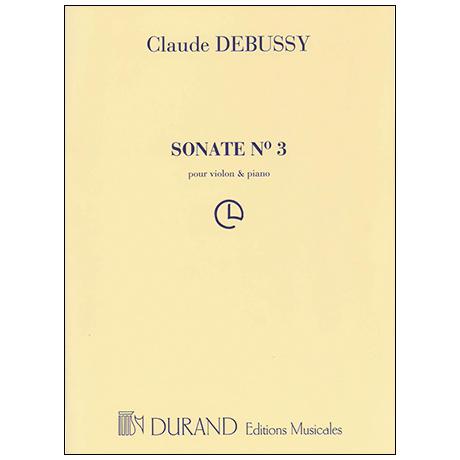 Debussy, C.: Violinsonate g-Moll (1916/17)