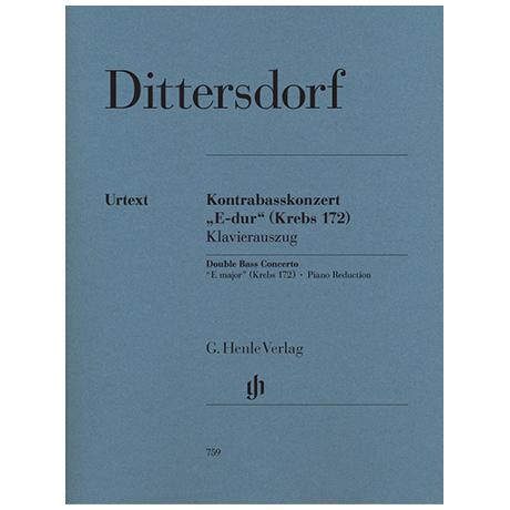 Dittersdorf, K. D. v.: Kontrabasskonzert E-Dur Krebs 172