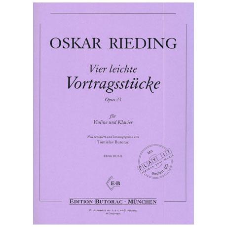 Rieding, O.: 4 leichte Vortragsstücke Op. 23 (+CD)