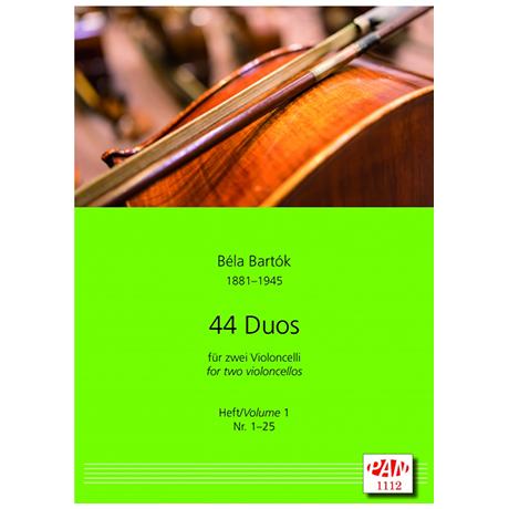 Bartók, B.: 44 Celloduos Band 1 (Nr. 1-25)