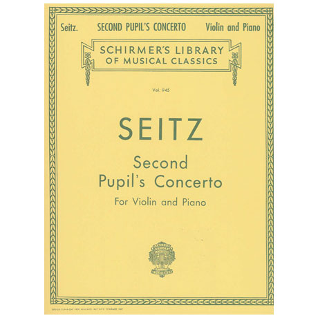 Seitz, F.: Pupil's Concerto No. 2 in G, op. 13