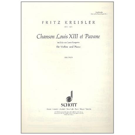 Kreisler, F.: Chanson Louis XIII et Pavane