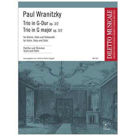 Wranitzky, P.: Trio Op. 3/2 G-Dur