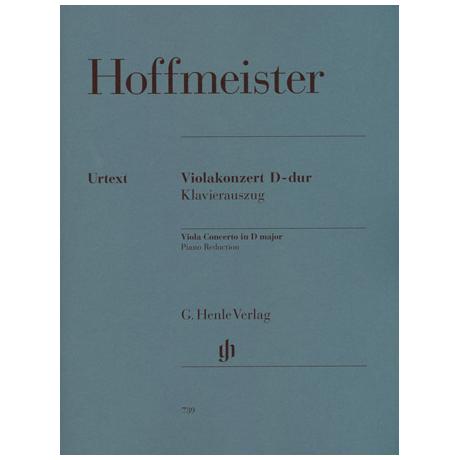 Hoffmeister, F. A.: Violakonzert D-Dur Urtext, Kadenz: Levin
