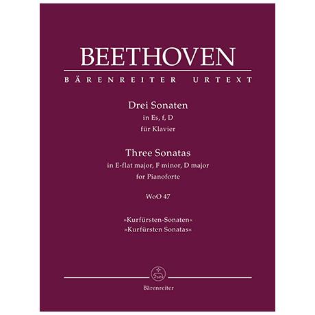 Beethoven, L. v.: 3 Klaviersonaten WoO 47 Es-Dur, f-Moll, D-Dur »Kurfürsten-Sonaten«