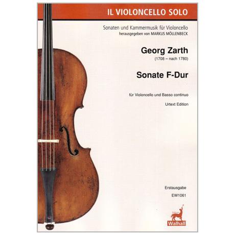 Zarth, G.: Violoncellosonate F-Dur