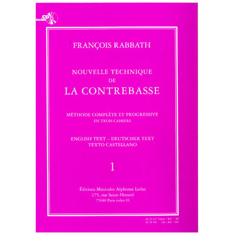 Rabbath, F.: Nouvelle technique de la contrebasse Vol.1 (+ CD)
