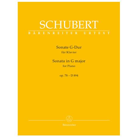 Schubert, F.: Sonate für Klavier D 894 Op. 78 G-Dur