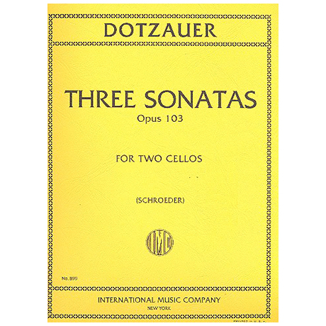 Dotzauer, F.: 3 Kontrabasssonaten Op.103