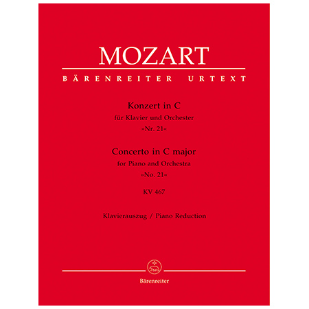 Mozart, W. A.: Klavierkonzert Nr. 21 KV 467 C-Dur
