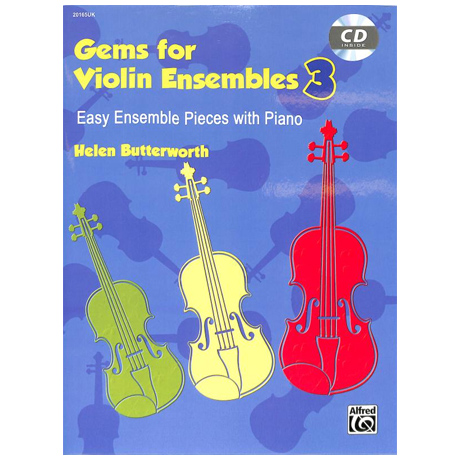 Butterworth, H. .: Gems for Violin Ensembles Band 3 (+CD)