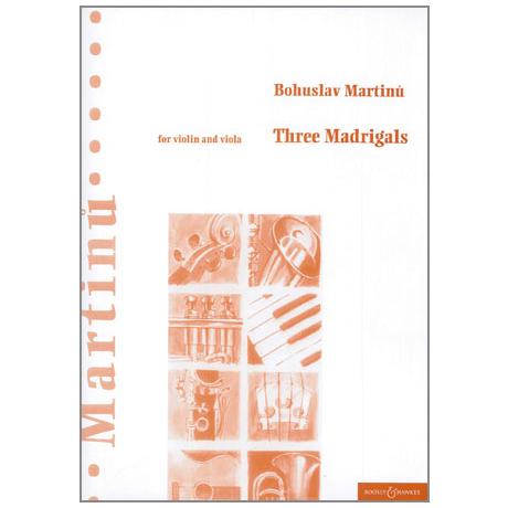 Martinu, B.: Drei Madrigale
