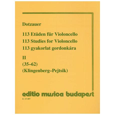 Dotzauer, J.J.F.: 113 Etüden Band 2