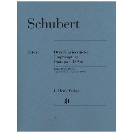 Schubert, F.: 3 Klavierstücke, Impromptus