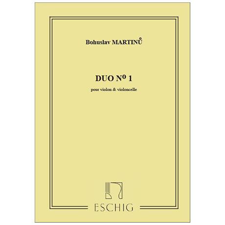 Martinů, B.: Duo Nr. 1