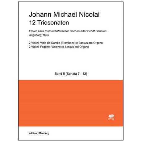 Nicolai, J. M.: 12 Triosonaten Band 2 (Nr. 7-12)