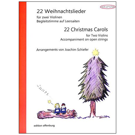 22 Weihnachtslieder für 2 Violinen