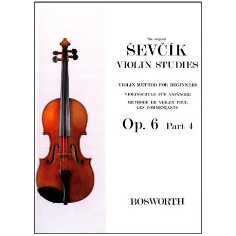 Sevcik, O.: Violinschule für Anfänger op. 6 Heft 4