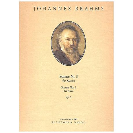 Brahms, J.: Sonate Nr. 3 f-Moll Op. 5