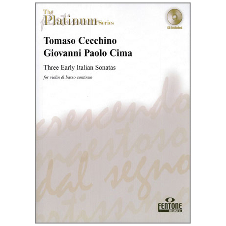 Cecchino, T. / Cima, G.P.: Three Early Italian Sonatas (+CD)