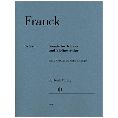 Franck, C.: Violinsonate Op. 100 A-Dur