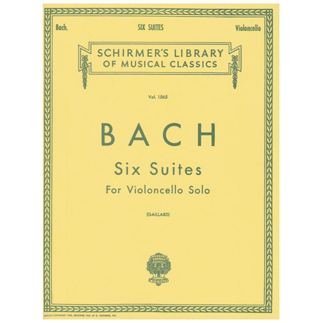Bach, J. S.: 6 Cello-Suites BWV 1007-1012