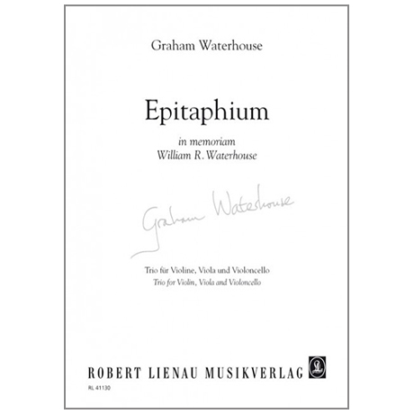 Waterhouse, G.: Epitaphium in memoriam William R. Waterhouse