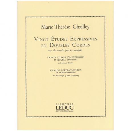 Chailley, M.-Th.: 20 Vortragsetüden in Doppelgriffen