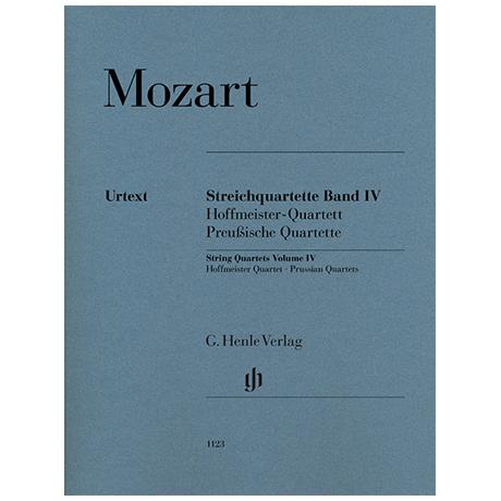 Mozart, W. A.: Streichquartette Band IV – Stimmen