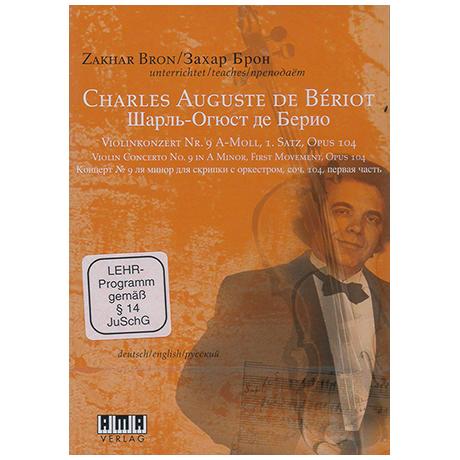 Bériot, Ch. d.: Violinkonzert Nr. 9 Op. 104 a-Moll 1. Satz (+DVD)