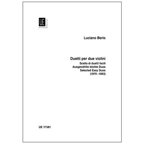 Berio, L.: Ausgewählte Leichte Duos aus »Duetti per due Violini«