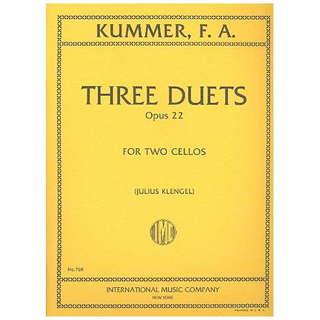 Kummer, F. A.: Drei Duette Op. 22