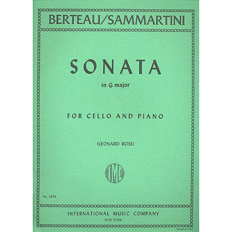 Berteau, M.: Sonate in G-Dur