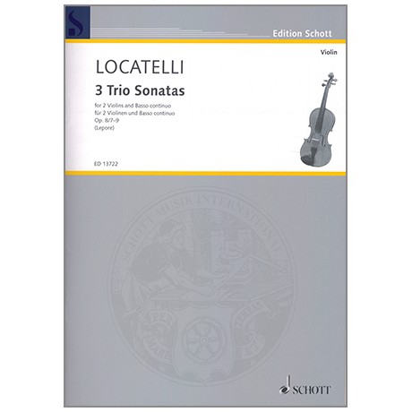 Locatelli, P.A.: 3 Trio Sonatas Op.8/7-9