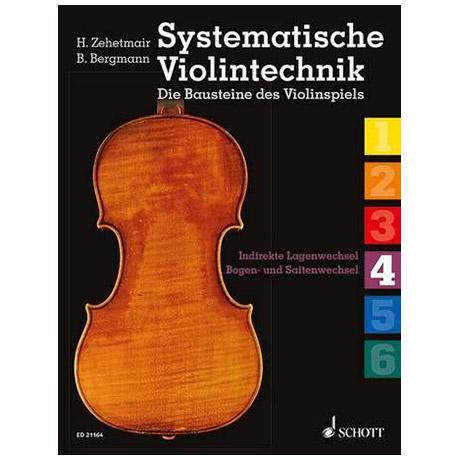 Zehetmair, H./Bergmann, B.: Systematische Violintechnik Band 4