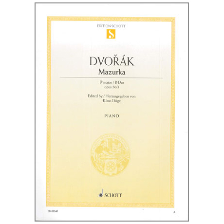 Dvořák, A.: Mazurka Op. 56 Nr. 3 B-Dur