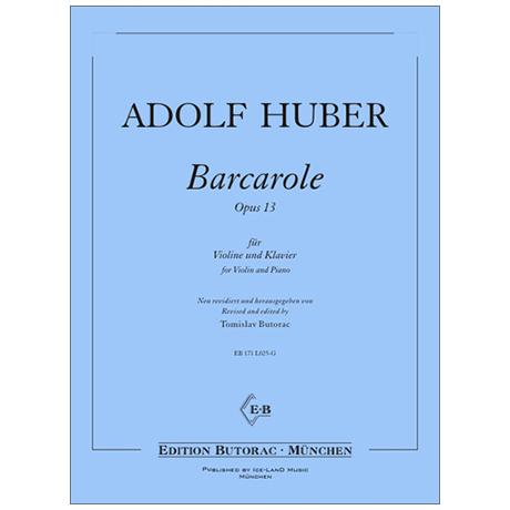 Huber, A.: Barcarole Op. 13