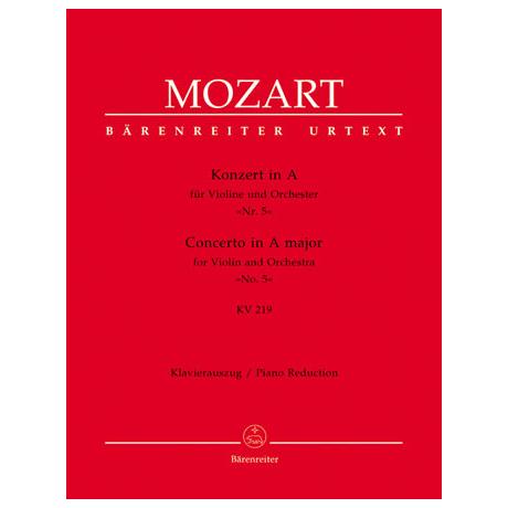 Mozart, W. A.: Konzert Nr. 5 KV 219 A-Dur